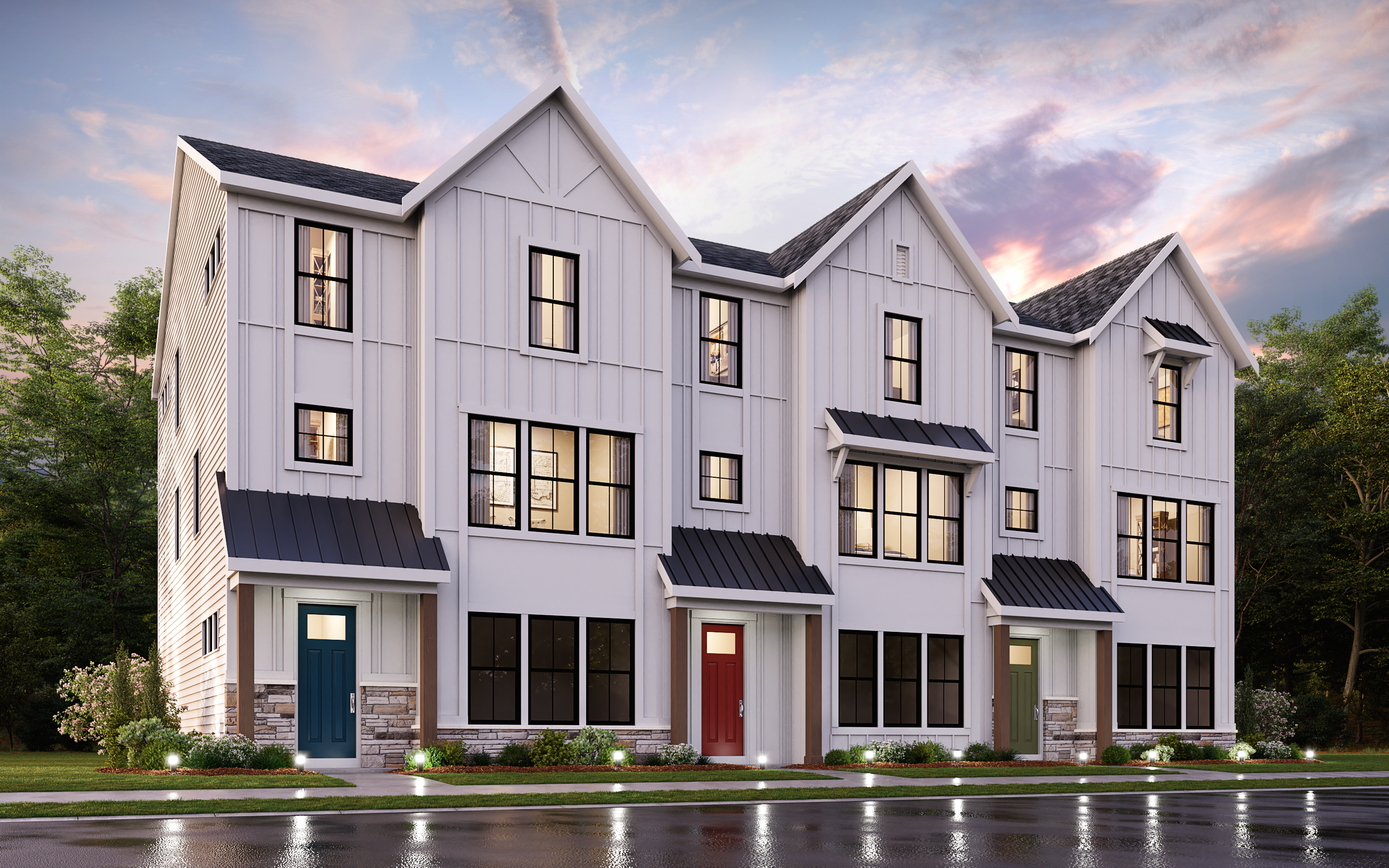 3-Story Town Homes Located At Gateway Heights in Richmond Heights, Missouri