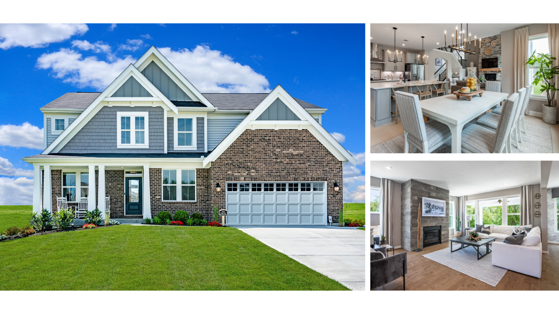Grandin Exterior Located At The Greens At Streets Of Caledonia Featuring An Open-Concept Kitchen And Family Room With Hard Wood Flooring And Expansive Island Kitchen