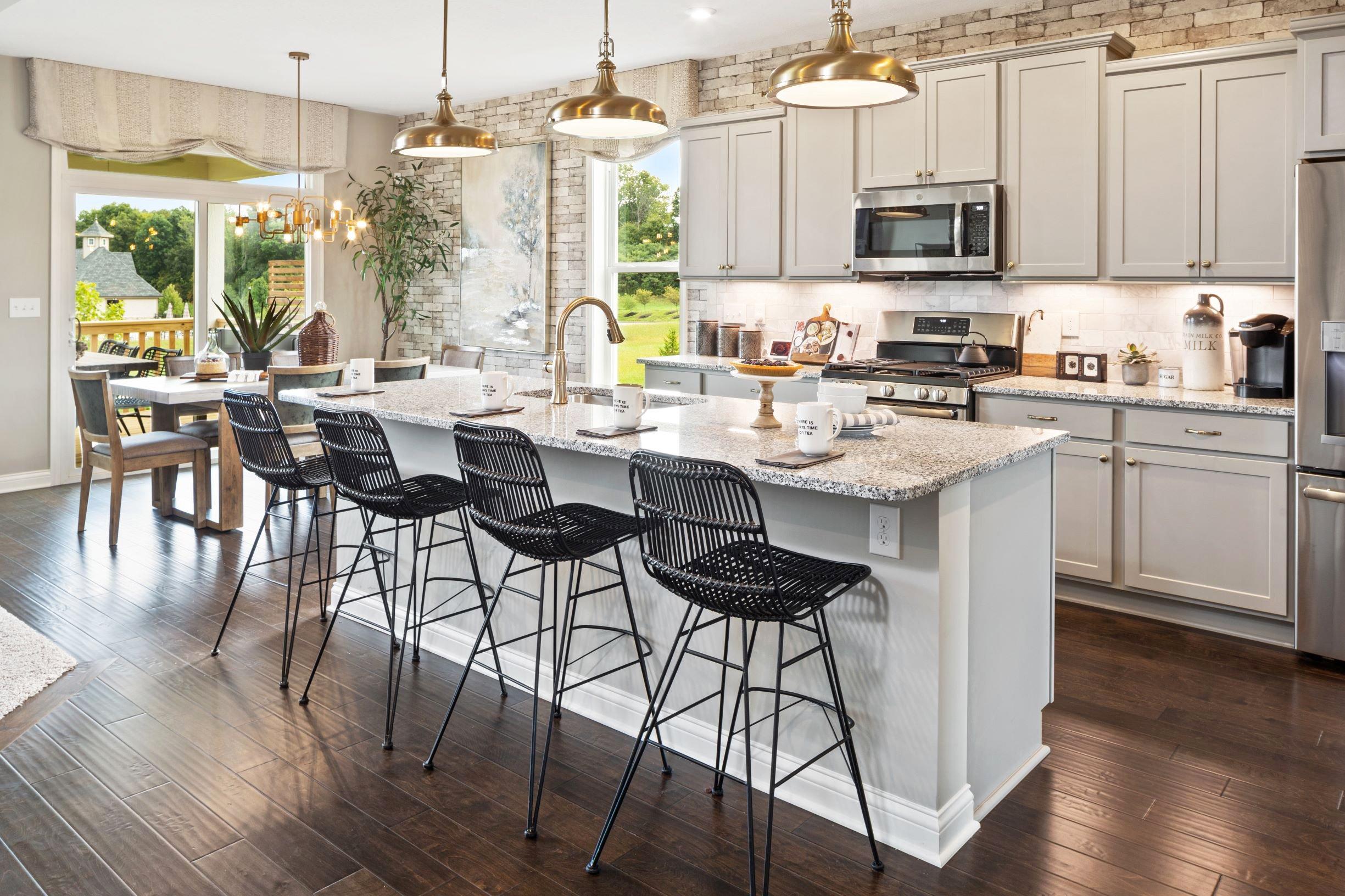 The Avery floorplan by fischer homes island kitchen